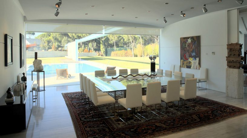 Large Glass Dinning Table with 16 Chairs