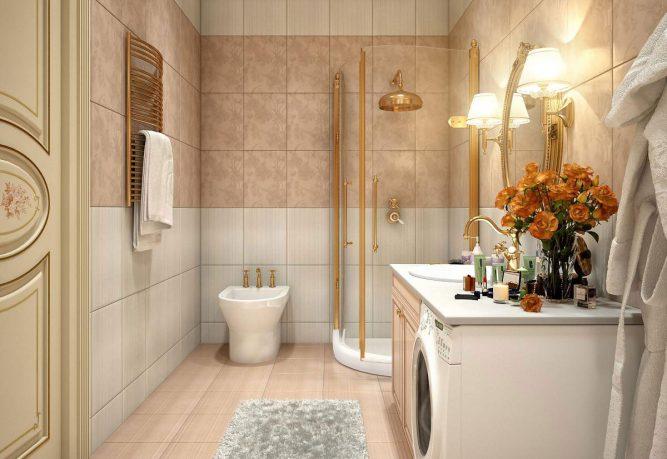 Luxury Gold Panel of Decorative Tiles