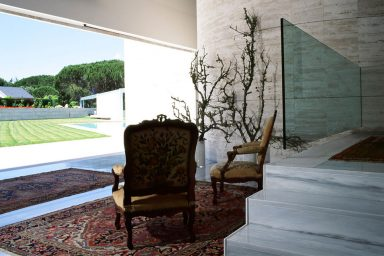 Modern House with Terace and Baroque Rugs