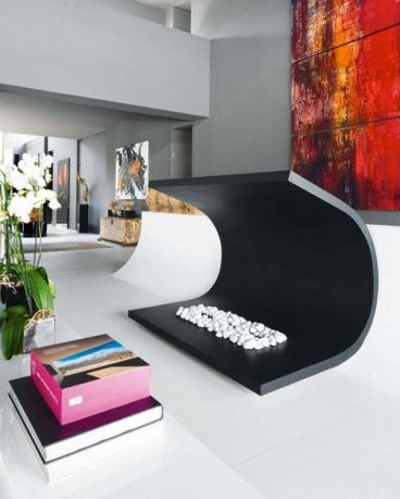 Unique Black Color Living Room Decor