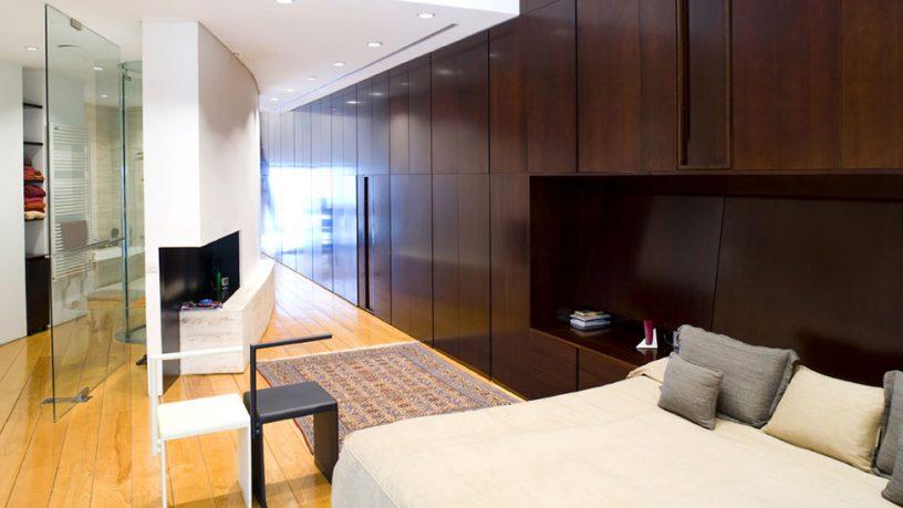White Bedroom in Corner of The Room