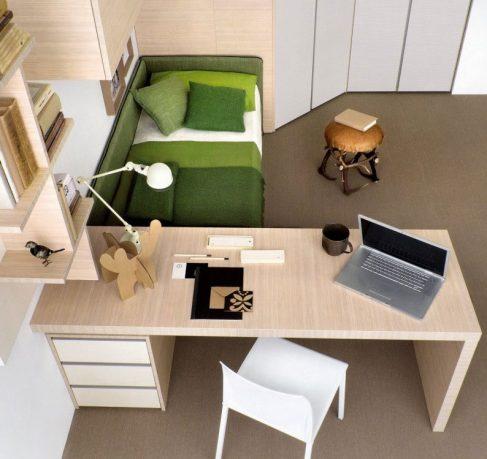 Beech Study Desk Furniture Design