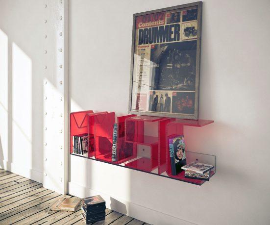 Modern Variable Letter Shelves Design Ideas