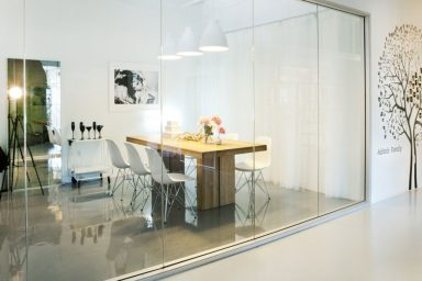 Office Glass Wall Ideas and Three Wall Decor