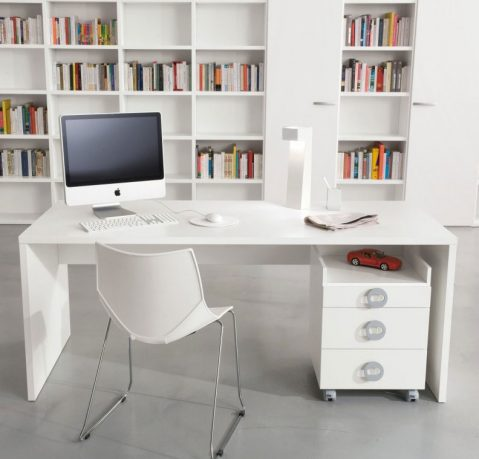 White Kids Room Furniture Library