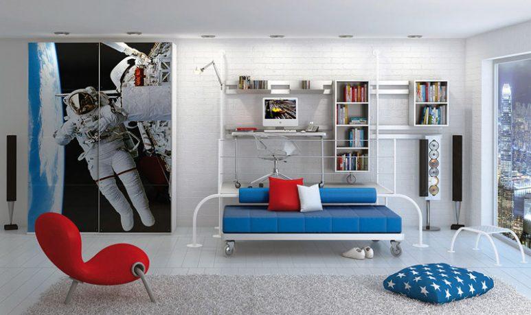 Astronaut Sticker Decor for Kids Furniture