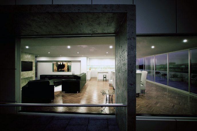 Minimalist Open Plan Livingroom Decor