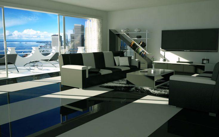 Modern Black White Living Room Decor