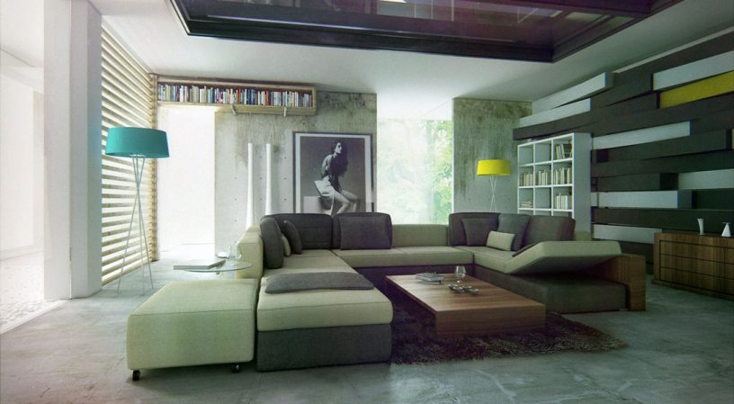 Modern Sectional Sofa Design Living Room