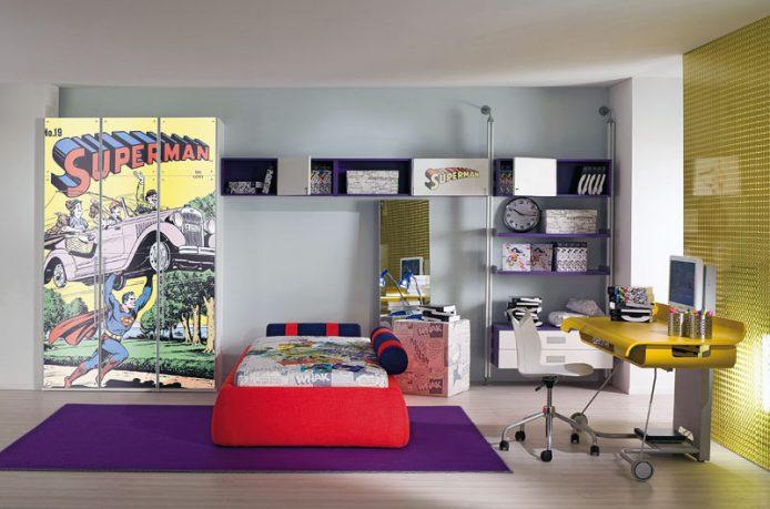 Modern Superman Theme Wall Decor for Boy