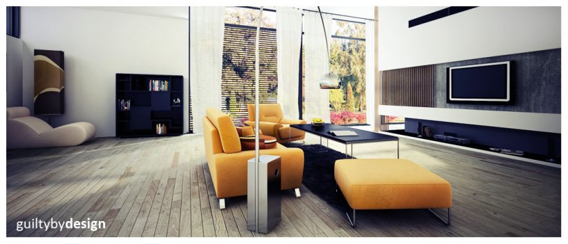 Retro vs Modern Living Room with Yellow Sofa