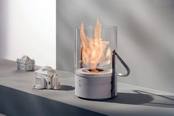Secel Mini Glass Bucket Fireplace Design