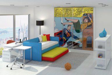 Superman Printing Closet for Kids Bedroom