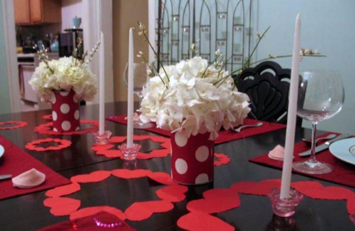 White Flower Decor for Valentine Day