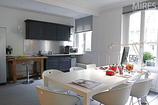 White Interior Paris Apartment Design