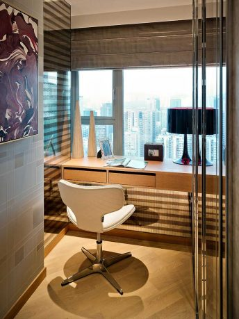 Apartment Work Desk with Hong Kong City View