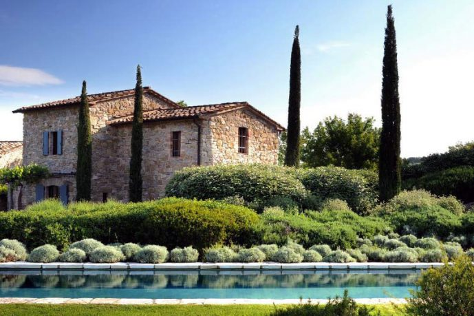 Rock Wall Villa with Pool Ideas