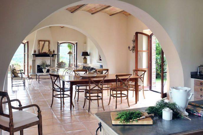 Rustic Open Dining Room Villa Ideas