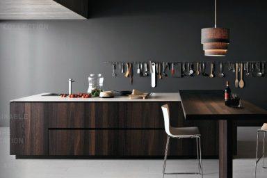 Walnut Modern Coffee Kitchen Design