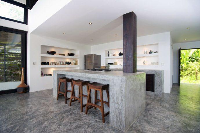 Concrete Kitchen Island Design Villa