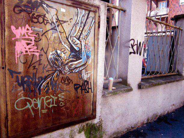 Girl Flying in Wall Mural Art