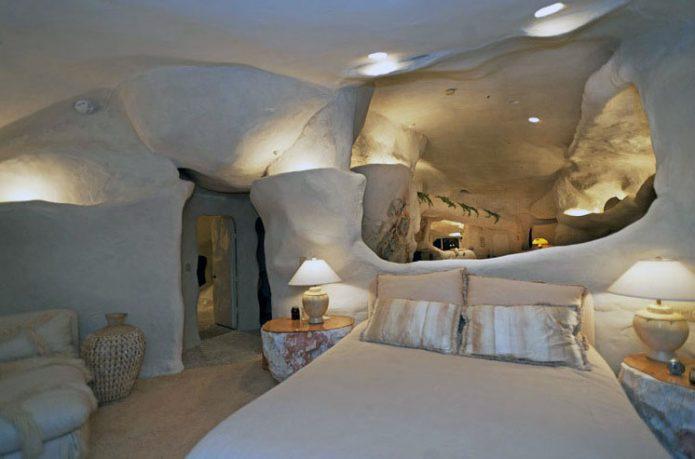 Great Lighting Design Cave House Bedroom