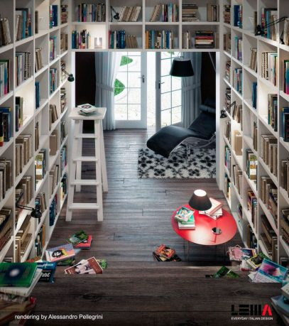 Modern Space Saving Home Library Design Ideas