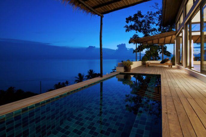Romantic Swimming Pool Deck Beach Resort
