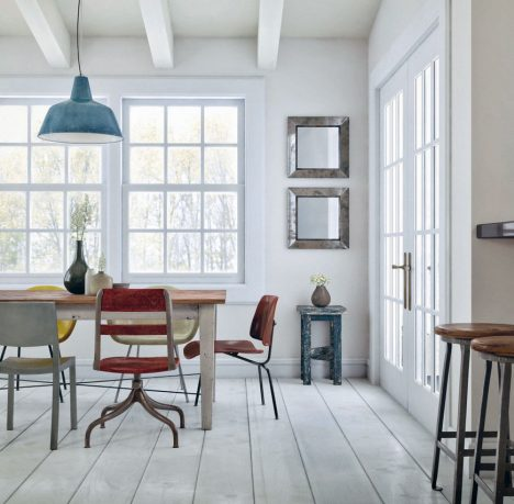 White Vintage Dining Room Style