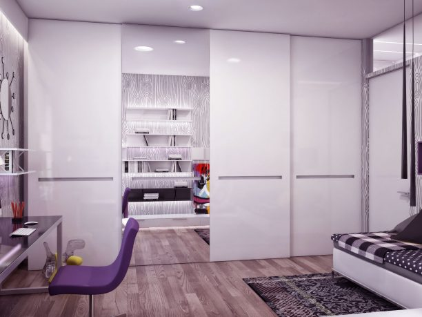 Awesome Study Room with Purple Chair Ideas
