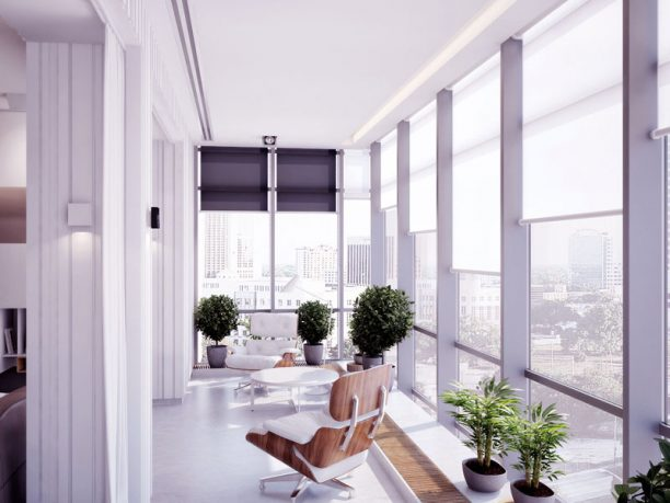 Bright Sunroom with Modern Chairs Ideas