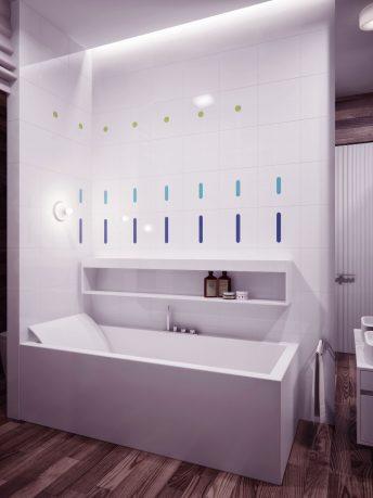 Modern White Bathroom Recessed Ceiling Light