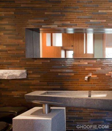 Ethnic Bathroom Design with Glamorous Tile