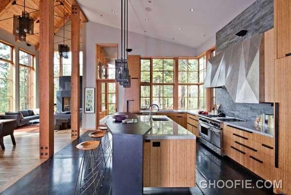 Modern Kitchen Design with Wooden Furniture
