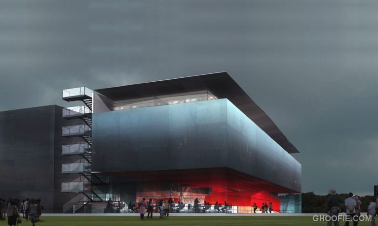 New Building with Modern Construction by Odile Decq