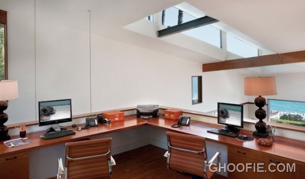 Appealing Attic Office Design with Herman Miller Chair