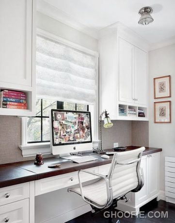 Contemporary White Office with Herman Miller Chair