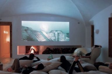 Cool Media Room Design with Comfort Sofa