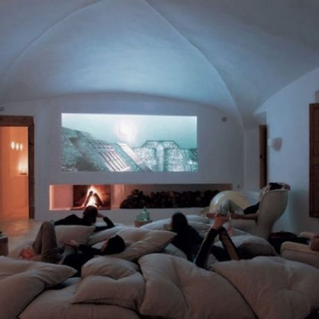 Cool Media Room Design with Comfort Sofa