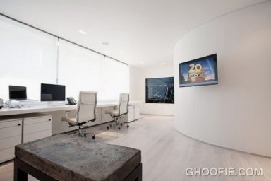 Modern White Office Design with Herman Miller Chair