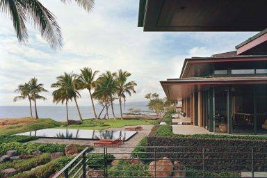 Ocean House Terrace with Mountains and the Sea View