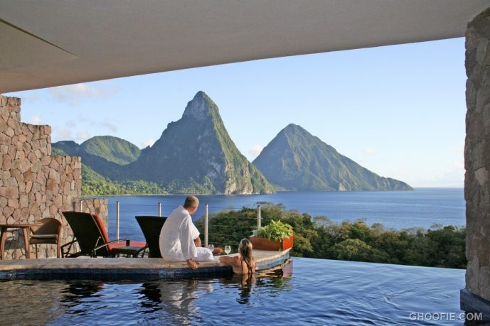 Fresh and Relaxed Spot Jade Mountain St Lucia