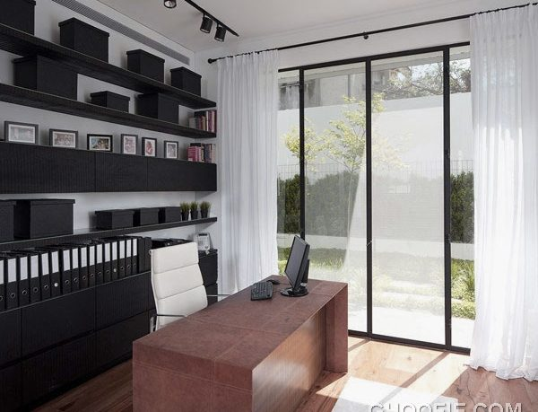 Cozy Home Office for Modern Family House Design Ideas