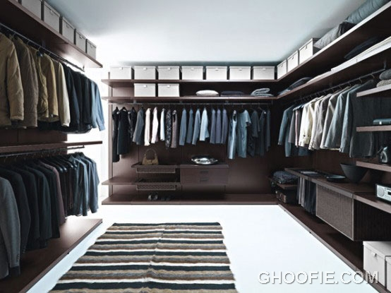 Walk in Closet Design for Masculine Man