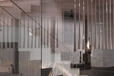 Contemporary Staircase Design Ideas with Glass Barrier