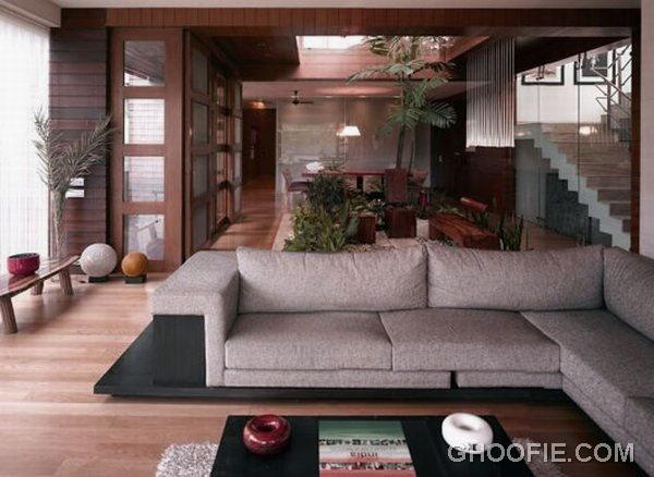 Cozy Living Room for Contemporary Residence Design Ideas