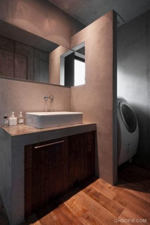 Powder Room and Laundry Room in One Area Design Ideas