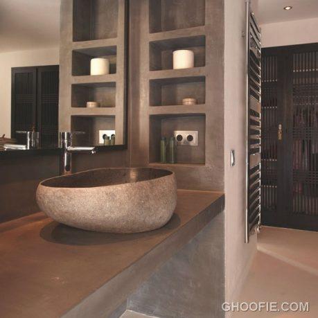 Minimalist Bathroom with Rock Sink Ideas