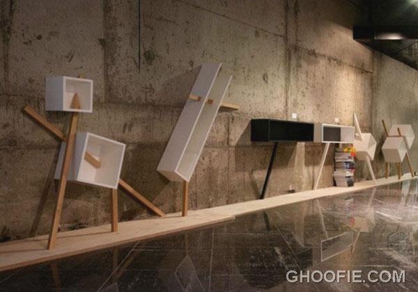 Ultra Modern Shelves For Minimalist Living Room