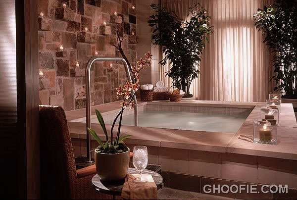 Spa Room Design Ideas With Stone Walls
